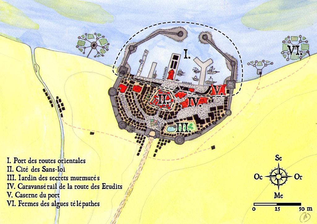 Plan de Portamrax pour Impitoyables bourgades
