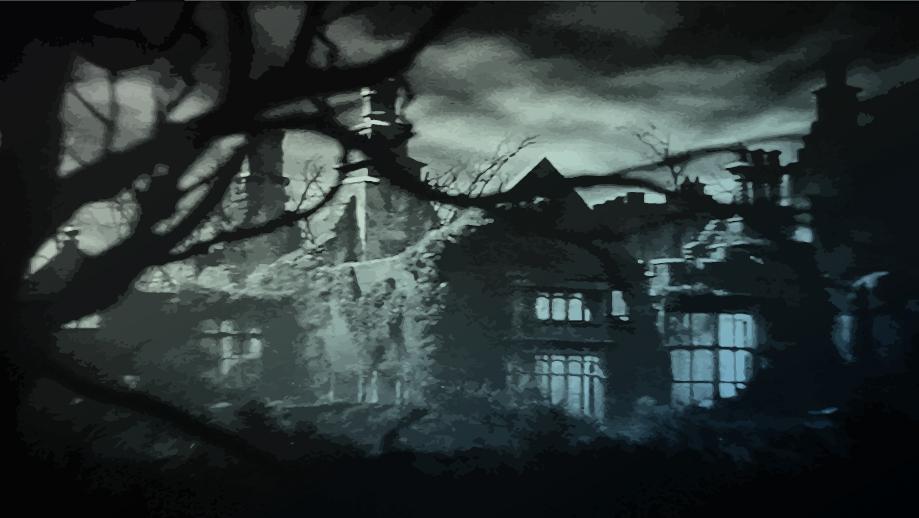 Manoir hanté pour illustre Horrifique, pbta d'horreur lovecraftienne chez Designed by Acritarche